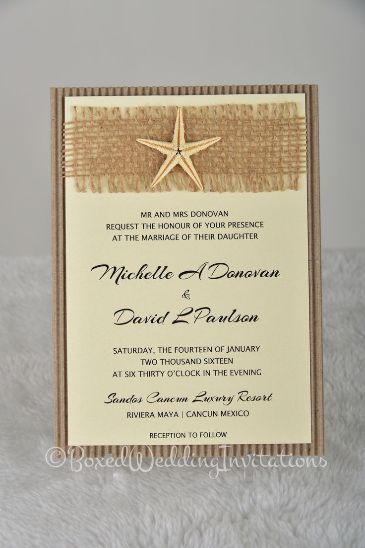 Destination wedding invitation card wedding invitation