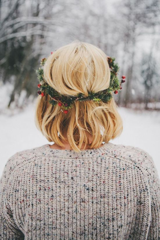 holiday hair wreath