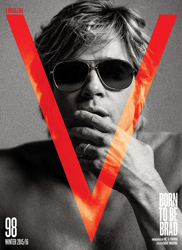 Jan Theo!   blogspot: Brad Pitt for V Magazine by Inez & Vinoodh