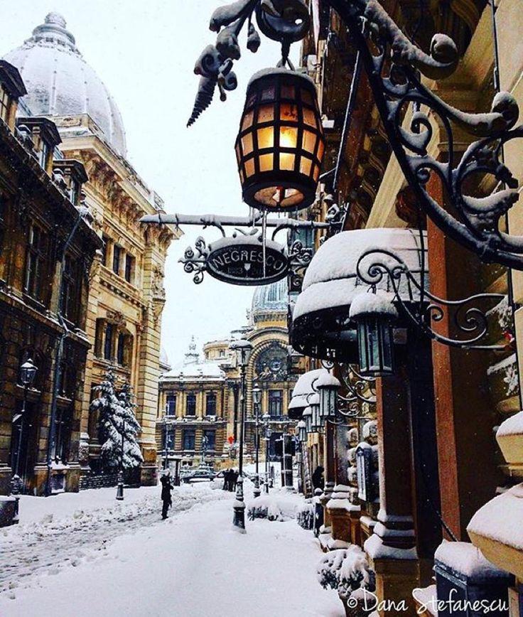 I just love this photo! Credit : @Dana Stefanescu #bucharest #oldtown #mycity #visitromania #visitbucharest #bucuresti #romania #snow #winter #perfectpicture #winterwonderland #travel #photography #photooftheday #old #buildings #history #traveling #hometown #cold #romanian #proud by kriss.tina88