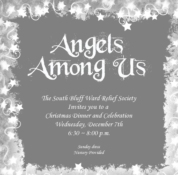 Angels Among Us -RS activity on small acts of service help to make us more Christ-like