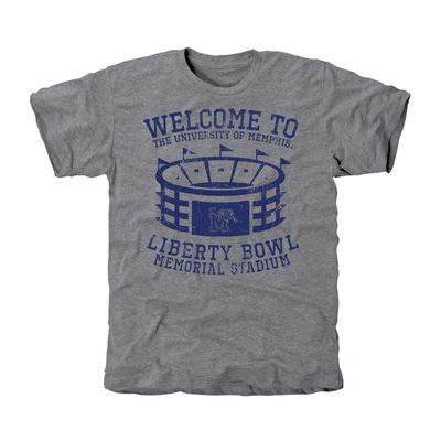 Memphis Tigers Stadium Tri-Blend T-Shirt - Ash