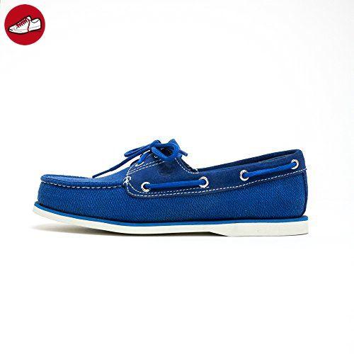 Timberland Classic Fabric Schuhe Herren Bootsschuhe Segelschuhe Blau A16O4, Größenauswahl:46 - Timberland schuhe (*Partner-Link)