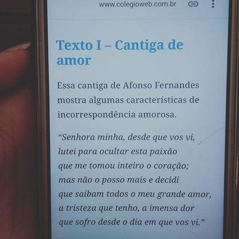 #trovadorismo #cantiga #amor #cantigadeamor #afonsofernandes #literatura