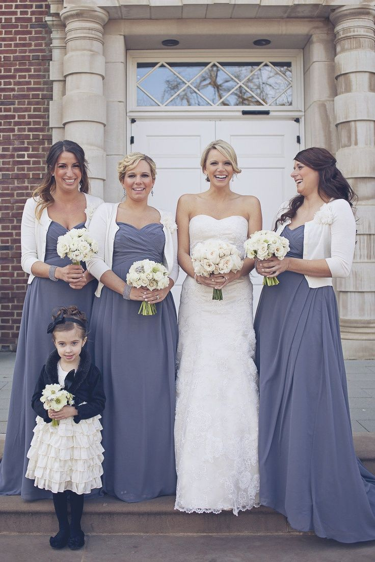 """Bill Levkoff bridesmaid dresses in """"pewter"""" not the style but would be the color for the one we liked. Description from pinterest.com. I searched for this on bing.com/images"""