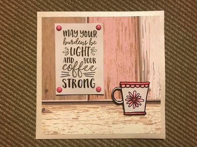 Handmade card by Just Create it Farm using the Rise and Shine digital set from Verve. #vervestamps