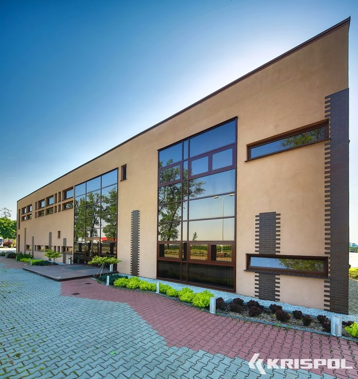 Krispol.pl - fasada, okno ALU, stolarka aluminiowa