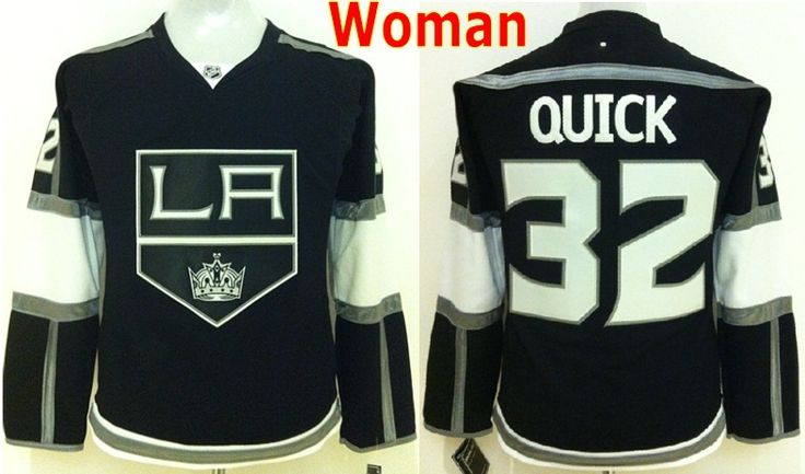 """Дешевое Лос анджелес кингз хоккей кофта женщин #32 джонатан квик джерси черный женщина лос анджелес кингс быстрый леди джерси / рубашка дешевые stittched, Купить Качество Майки спортивные непосредственно из китайских фирмах-поставщиках:  Лос-Анджелес Кингз """"хоккейные майки женщин #32 Джонатан быстро Джерси черный женщина LA Kings быстрый Леди Джерси/"""
