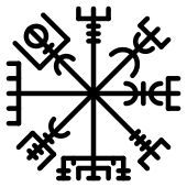 """El aegishjalmur es un simbolo de protección utilizado por los nordicos, se le llama """"mascara del terror"""" también se le conoce como hechizo del terror o del temor. Este tipo de símbolos eran usados habitualmente por los guerreros vikingos como signo protector pintado en la frente antes de la batalla,Dibujado entre los ojos, se le otorgaba la capacidad de hacer invencible al portador y atemorizar a sus enemigos."""