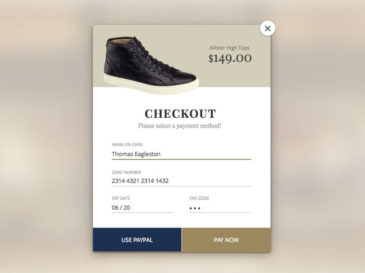 Dribbble - Daily UI 002 Credit Card Checkout by Frank Rodriguez