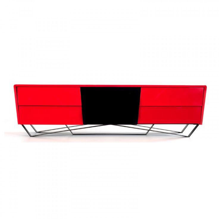 Nova Domus Max Modern Red TV Stand VGWCTV-G02-RED
