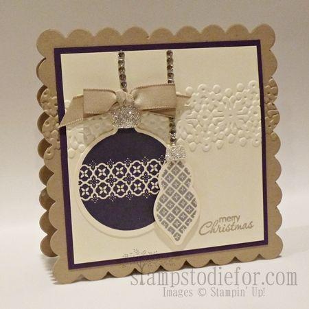 228 best cards su ornament keepsakes images on pinterest for Elegant christmas card ideas