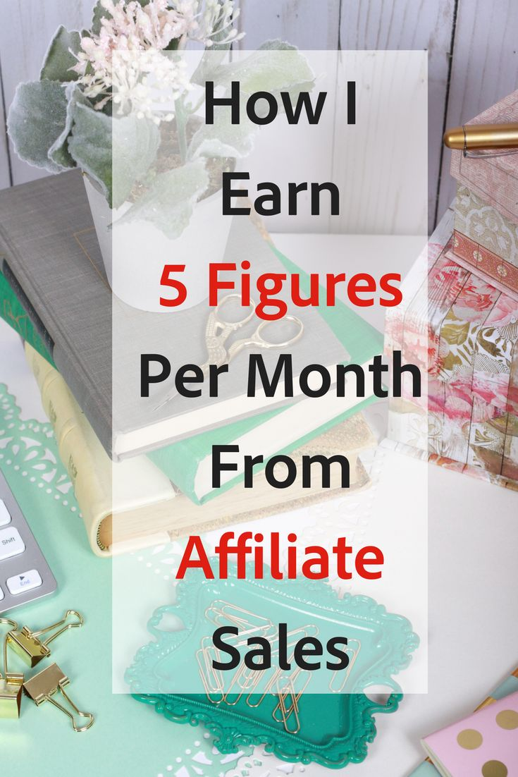 How this blogger makes five figures per month...all from affiliate sales and marketing. Learn how to set up passive income on your blog from affiliate sales! affiliate marketing | passive income | monetize your blog | make money blogging