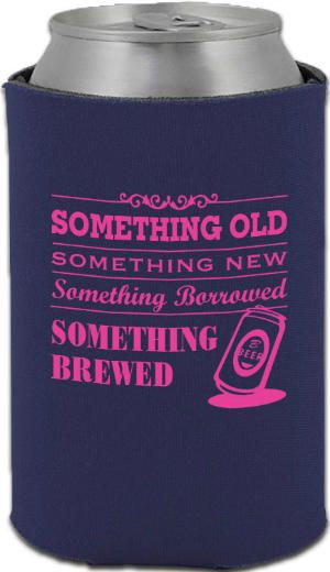 Totally Wedding Koozies Something Old Something New Koozies Favors