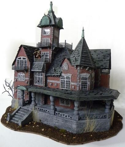 114 best haunted miniature houses images on pinterest for How to make a cardboard haunted house