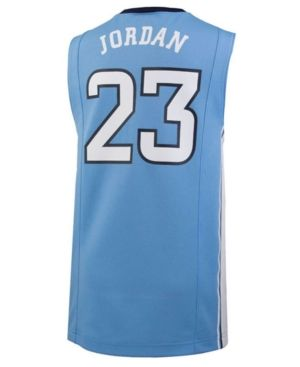 Nike Michael Jordan North Carolina Tar Heels Replica Basketball Jersey, Big Boys (8-20) - Blue