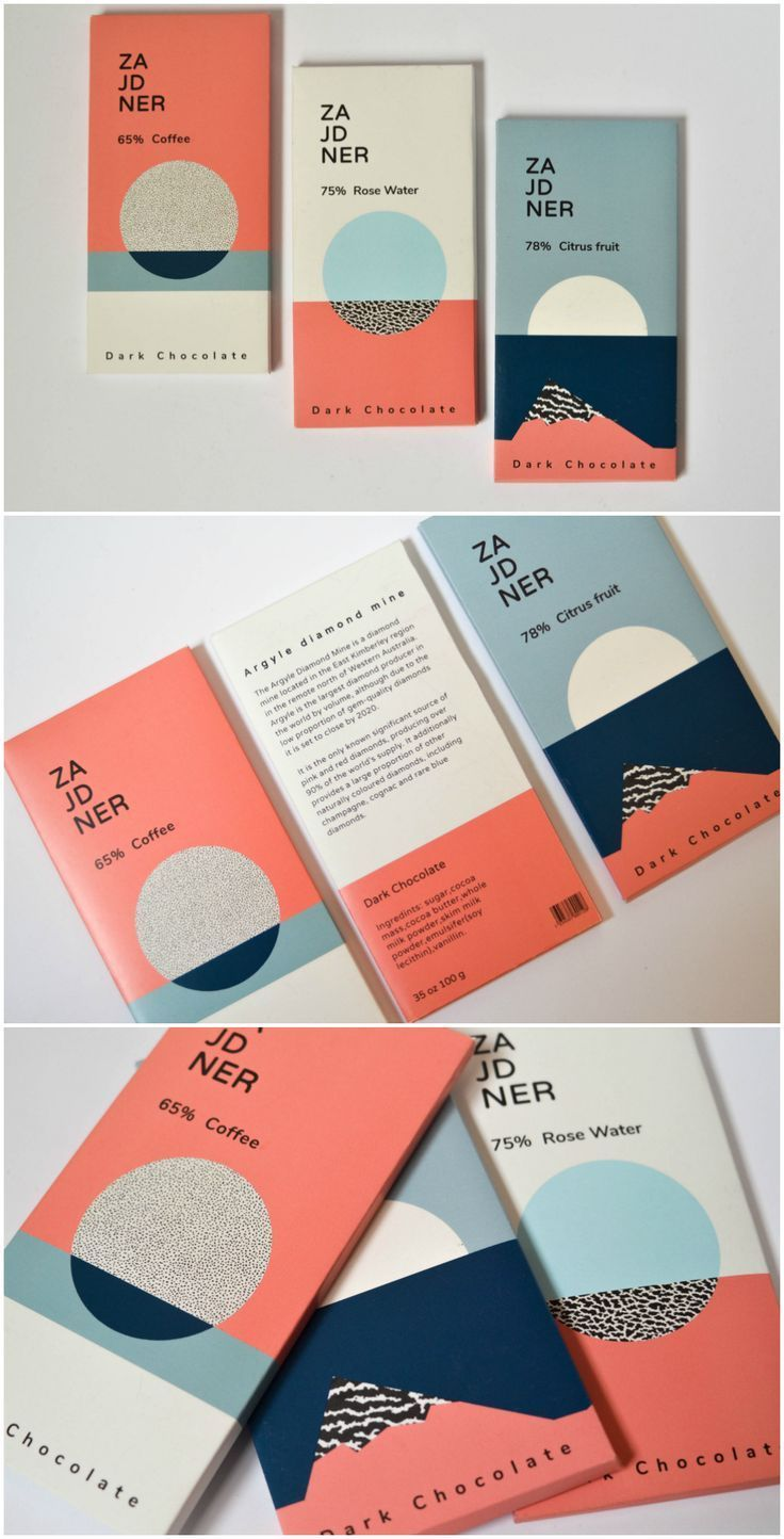 Brand Creations and Packaging Design for Student Concept of Old Postcard Looking Chocolate