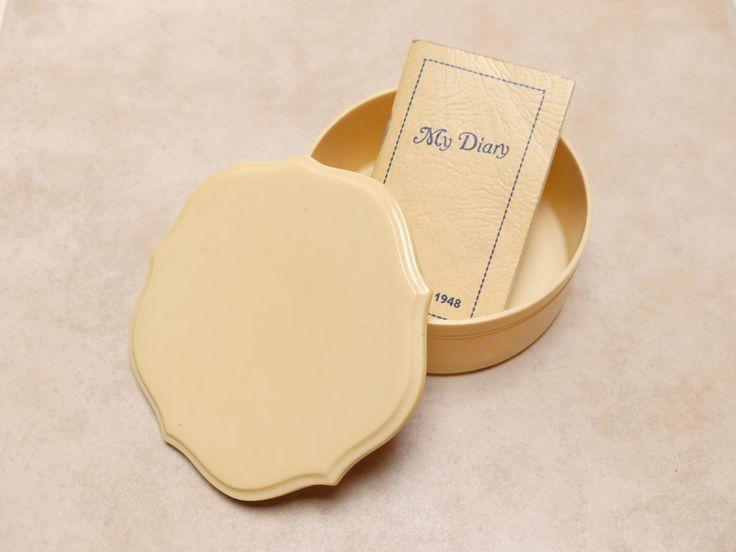 Vintage Mid Century Lucite Vanity Powder Bowl by JessaBellas on Etsy