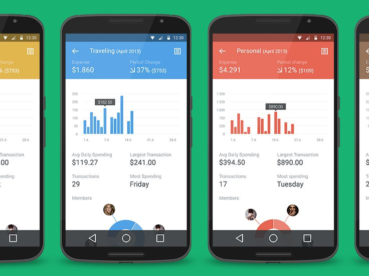 signa android ui design community financial application by michal langmajer cleevio
