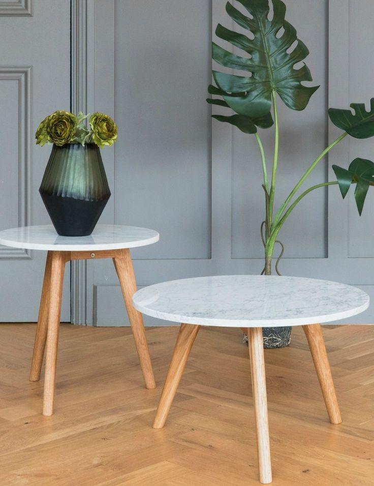 White Stone Coffee Table