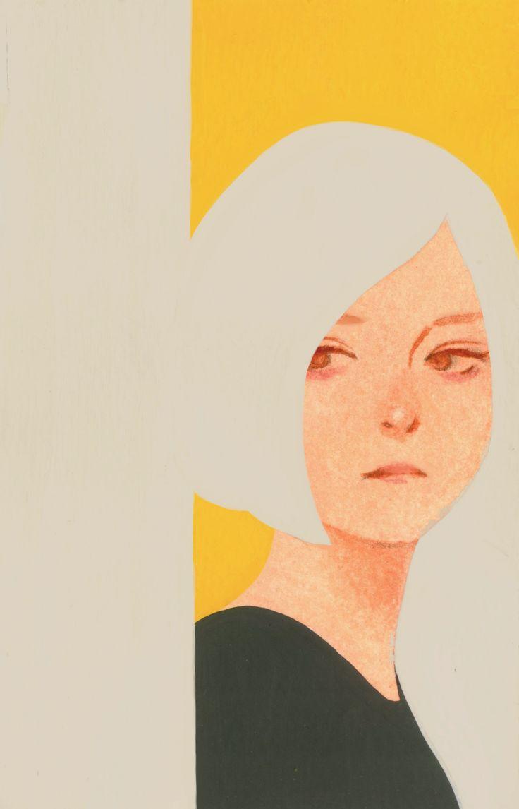 "aka-outwork: ""Drawing 『YESTERDAY』 2016.06.07 MOLESKINE acryl gouache…"