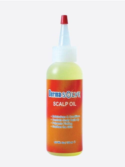 Over 50% of the people who suffer with psoriasis have it on the scalp. Dermasolve Scalp Oil will help soften the scales so that they can easily be removed when shampooing.