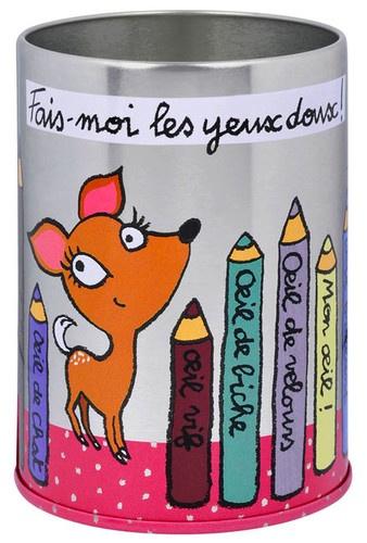 keladeco.com - #boite à #crayon #yeux doux, idée deco salle de bain, boite à crayons pour les yeux valérie nylin, boite derrière la porte - DLP