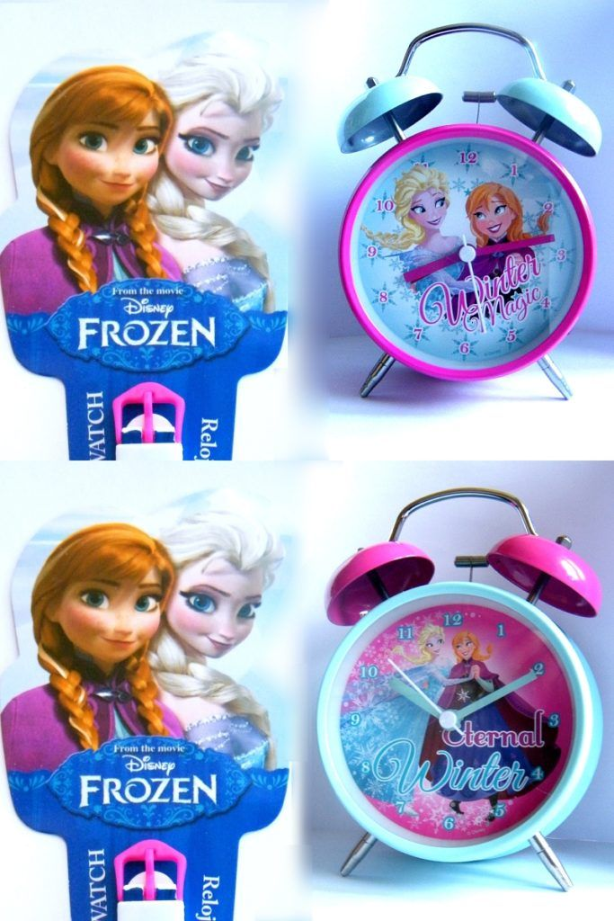 Original DISNEY alarm clocks for kids - Elsa and Anna from FROZEN #watch #disney Oryginalne budziki Disneya dla dzieci - Elsa i Anna z Krainy Lodu