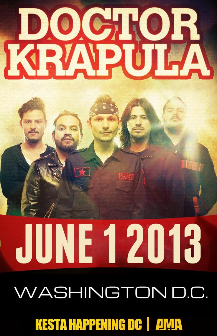 Doctor Krapula in DC! More details soon...