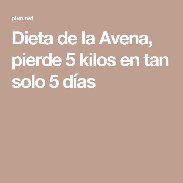 Dieta de la Avena, pierde 5 kilos en tan solo 5 días