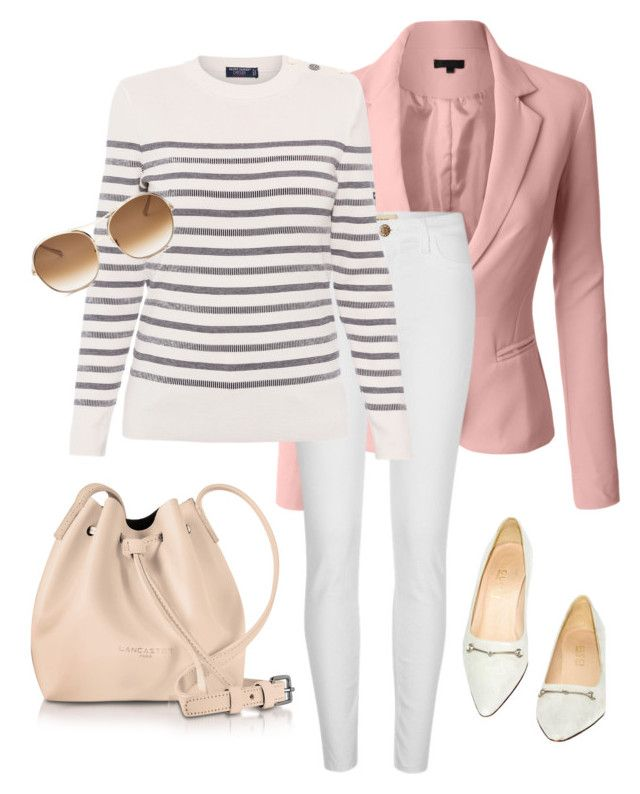 """""""Untitled#172"""" by bidlekerika on Polyvore featuring LE3NO, River Island, Saint James, Lancaster, Chloé and Gucci"""