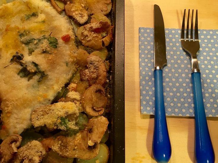 #rombo con #patate e #funghi
