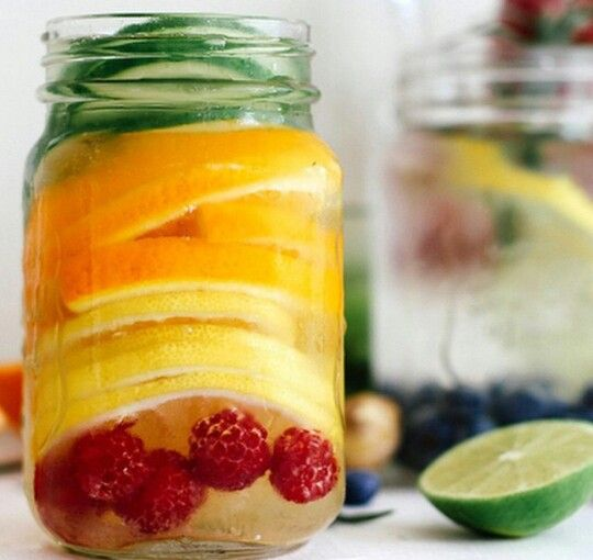 Raspberry Lemon Orange Cucumber Water