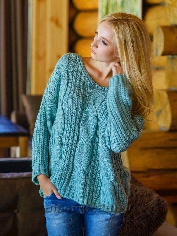 Классический пуловер оверсайз