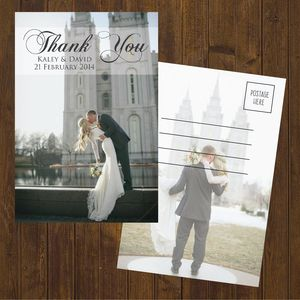 custom wedding thank you cards are available at boardman printing