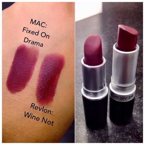 MAC Fixed on Drama dupe. Prettyyy... makes me miss my plummy, dramatic fall makeup... ready for next season!