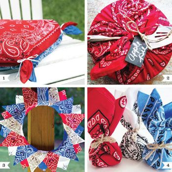 I love a classic bandanna pattern! It's so intricately beautiful yet also as simple as can be. Here are some of my favorite DIY ideas for bandannas (great for farm parties, country-western parties, or just a good ol' southern barbecue). : ) 1. Make seat ...