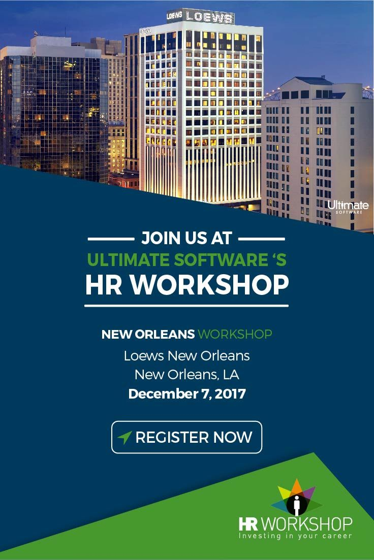Reserve your spot for our complimentary HR workshop at Loews New Orleans! We'll discuss innovative tools you can use to recognize your employees' emotional intelligence, implement collaborative communication for success, and achieve organizational success as a team. http://ulti.pro/2hqguEC