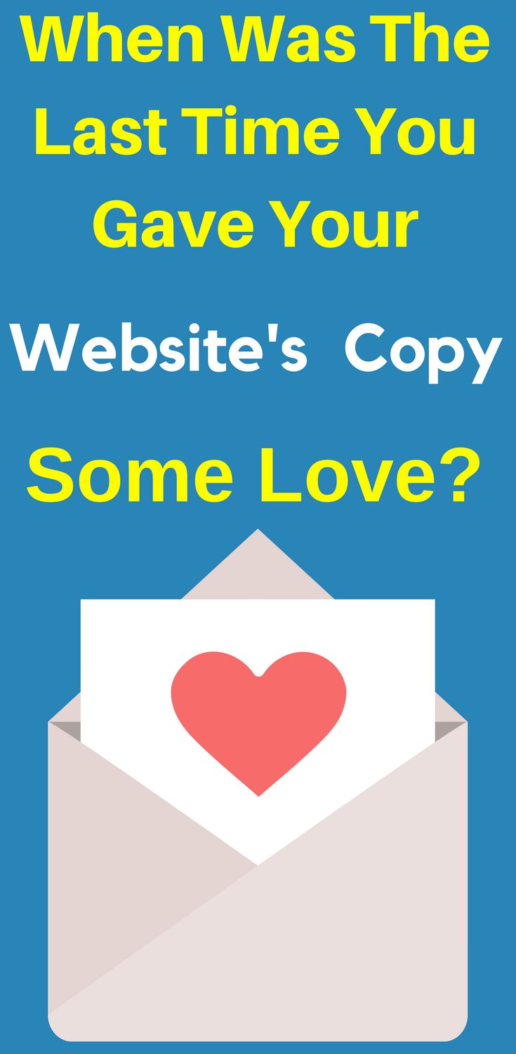 10 Reasons Your Website Copy Might Need Some Love. It doesn't matter how good your website looks if your text doesn't sizzle and captivate – your visitors won't be excited to learn more and will bounce often – meaning many lost sales for you! When Was The Last Time You Gave Your #Website #Copy Some #Love?