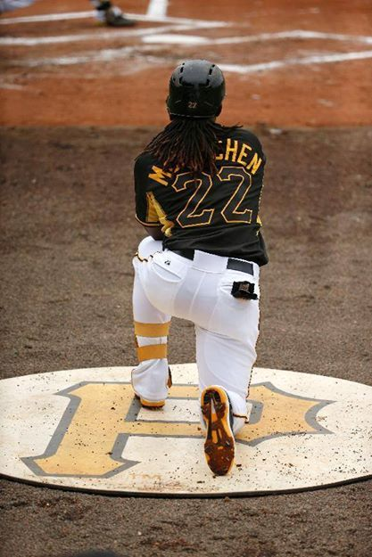 Andrew Mccutchen Pittsburgh Pirates before game
