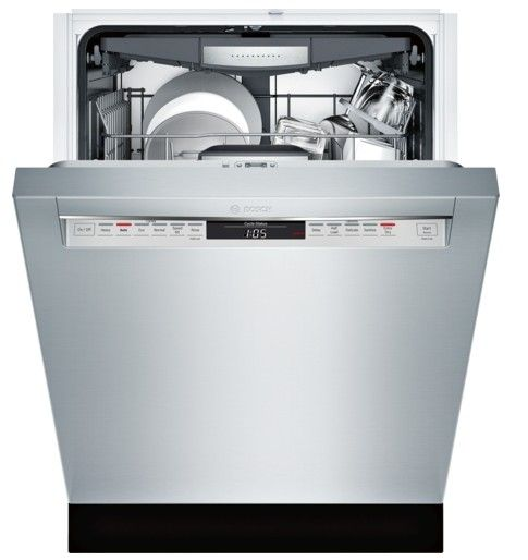 "The Wish List Of Luxury Kitchens: SHEM78W55N Bosch 800 Series 24"" Recessed Handle Dishwasher"