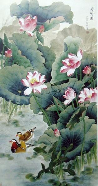 традиционный китайский лотос Рисование и каллиграфияна AliExpress.