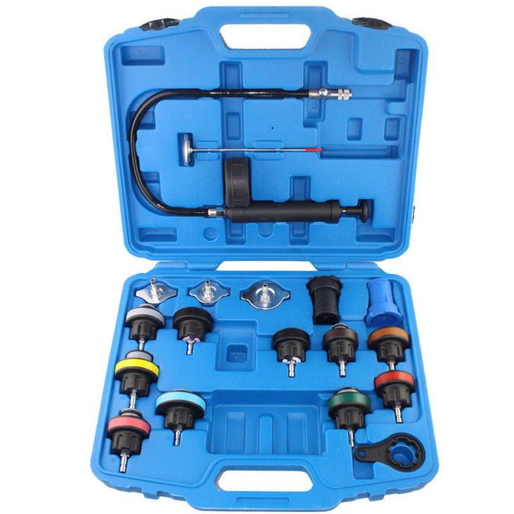 Professional Radiator Pressure Tester Universal Car Cooling System Test 18 Pcs #Doesnotapply