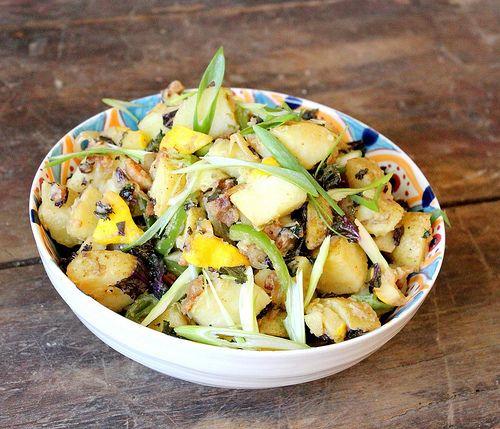 No Mayo Potato Salad: Potatoes Salad Without Mayo, Traditional Potatoes, Potato Salad, Yummy Recipe, Yummy Food, Mayo Potatoes, Delicious Alternative, Potatosalad, Healthy Delicious