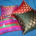 Brocade cushion covers