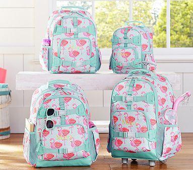 Mackenzie Aqua Flamingo Backpacks #pbkids...small backpack