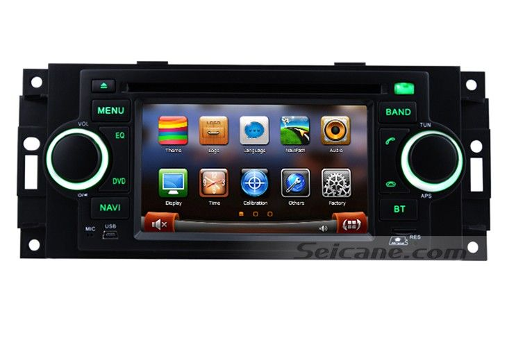 Top 2002-2007 Dodge Dakota P/U Durango Touch Screen GPS Radio Stereo CD DVD Player Bluetooth Music IPOD IPhone MP3 AUX Backup Camera Dual Zone