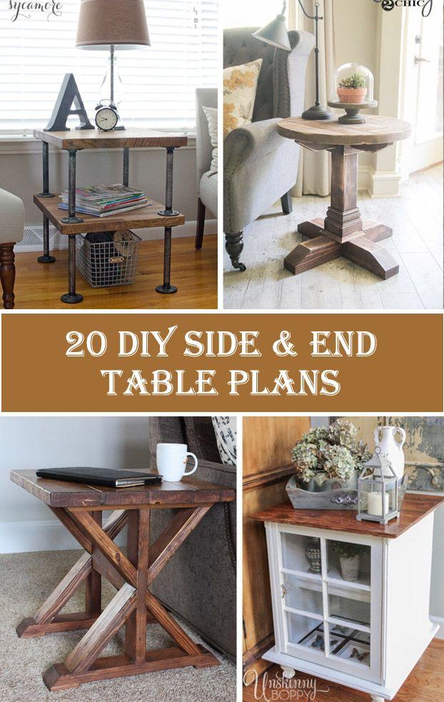 20 DIY Side & End Table Plans