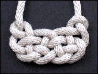 this site has a bunch of cool decorative knots and instructions on how to tie them