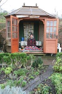 LaBelle Mariposa - a small building in the garden is a wonderful place to meditate. Especially when one lives in a place with changing weather.